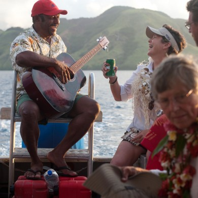 Singing on a Boat - Fiji